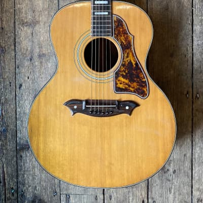 60's Knight Jumbo Acoustic Natural finish with ahrd shell case for sale