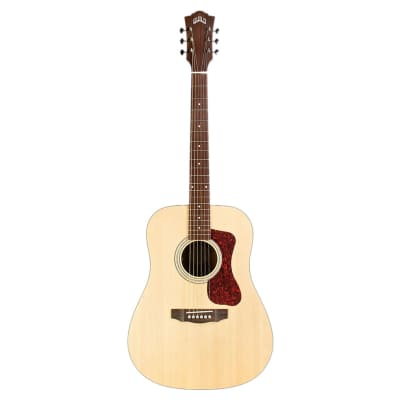Guild Westerly Collection D-240E Flamed Mahogany Dreadnought with Electronics Natural 2018