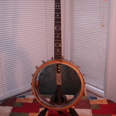 Vintage or Antique 4 String Easy Banjo Project Maker Unknown Pot/Neck/Tuners/Lugs/Hooks... for sale