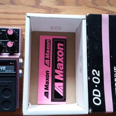 Maxon OD-02 with box and sticker