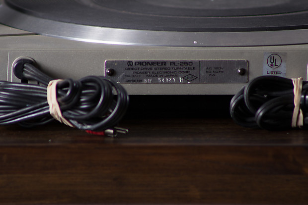 Pioneer Pl 250 Direct Drive Turntable W Pitch Control