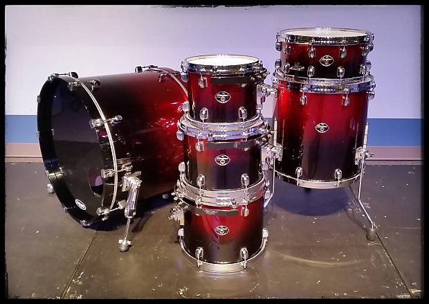 Tama Starclassic Performer Drum Set Red Sparkle Fade Reverb