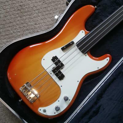 Fender Precision Bass Fretless Conversion 1973 Sienna Sunburst