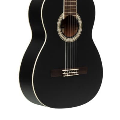 Stagg SCL70-BLK SCL70 classical guitar with spruce top, black for sale