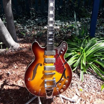 Eastwood Airline H78 Honey Sunburst w/Grover Tuners & Tusk nut for sale