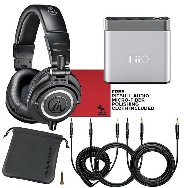 a3a3a35951e Audio Technica M50X Studio Headphones Black & FiiO A1 | Reverb