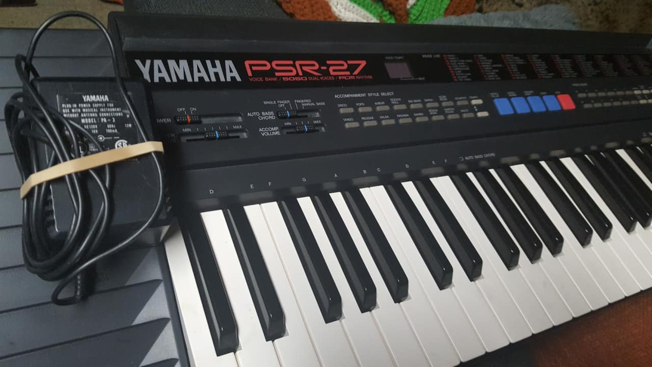 Vintage yamaha psr 27 keyboard synth das digital reverb for Yamaha professional keyboard price