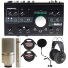 Mackie Big Knob Studio -24 Bit 192 kHz, Audio Interface + MXL 990-991 Microphones Bundle image