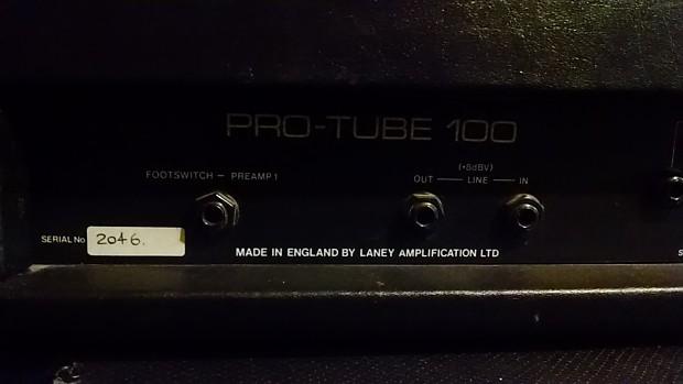 Laney AOR Pro-Tube Lead 100, all-tube head, U K  Made