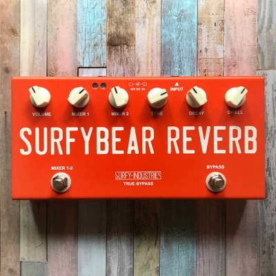 Surfy Industries SurfyBear Compact (Fiesta Red) - Spring Reverb Pedal - Fast Free Shipping in U.S.!
