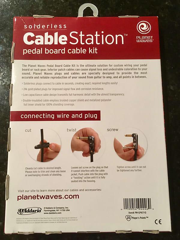d addario planet waves solderless cable kit reverb. Black Bedroom Furniture Sets. Home Design Ideas
