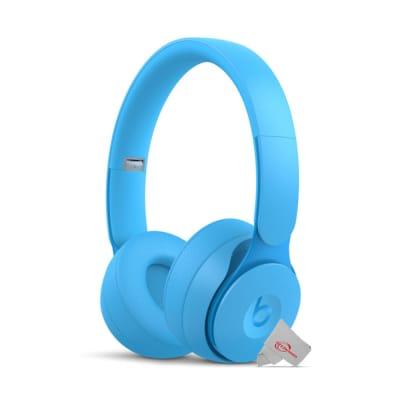 Beats Solo Pro Wireless Noise Cancelling On-Ear Headphones Light Blue