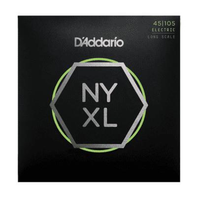 D'Addario NYXL45105, Set Long Scale, Light Top / Med Bottom, 45-105
