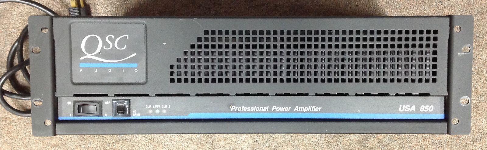 Qsc Usa 850 Professional Power Amplifier Amplifiers