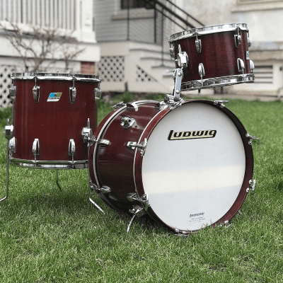 """Ludwig Bop Outfit 8x12 / 14x14 / 14x18"""" Drum Set (3-Ply) 1970s"""