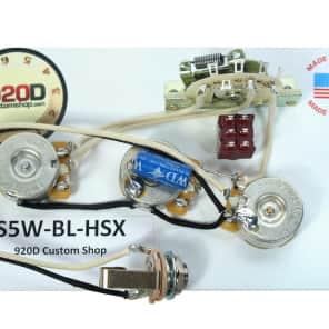 920D Custom Shop S5W-BL-HSX Strat Wiring Harness w/ Blender for JBE Two-Tone Humbucker