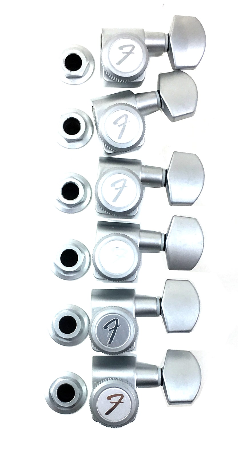 Fender Locking Tuners >> Fender Locking Tuners Tuning Machine Strat Tele In Line Brushed Chrome 2 Pin
