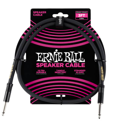 Ernie Ball 6071 3' Straight/Straight Speaker Cable for sale