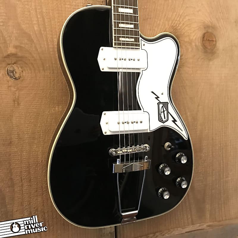 Eastwood Airline Tuxedo Electric Guitar Black