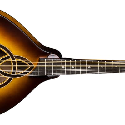 LUNA Trinity A-style acoustic Mandolin NEW Celtic Inlay - Tobacco Burst for sale
