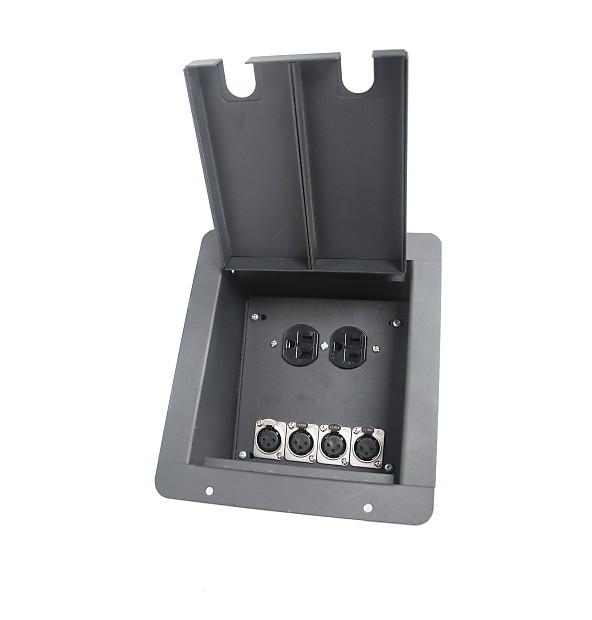 Elite Core Fb4 Ac Recessed Floor Box With 4 Xlrf Duplex