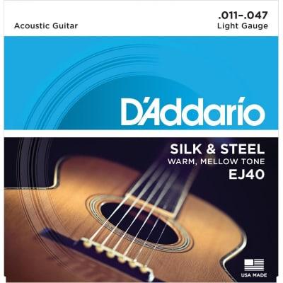 D´Addario EJ 40 Silk & Steel Acoustic Strings 11-47