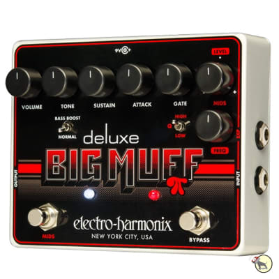 Electro-Harmonix Deluxe Big Muff Pi Fuzz Distortion Guitar Effects Pedal EHX