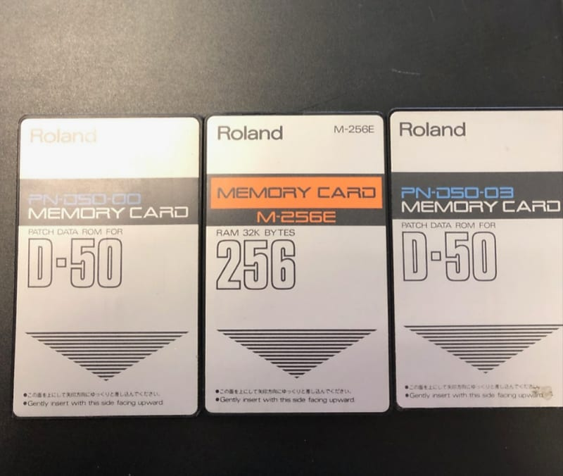 Roland D550 - D50 Expander - Accessory Pack (3 card - manual - bank of its  sysex ) Perfect