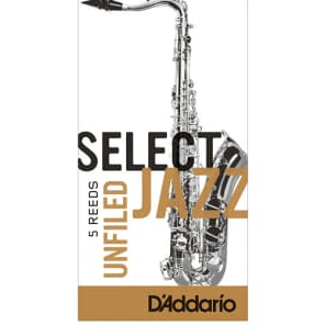 Pack of 5 Tenor Sax D/'Addario Rico RRS05TSX2S Unfiled Soft 2 Select Jazz Reed
