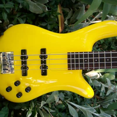 ESP Custom Shop Order Spector Style Bass   2000s? YELLOW  Sweet Custom Bass