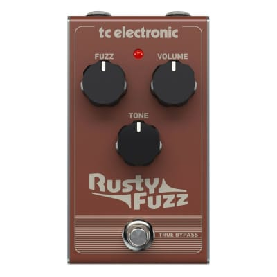 TC Electronic Rusty Fuzz Silicon Distortion True Bypass Guitar Effect Pedal