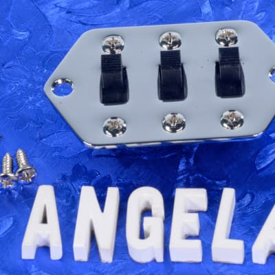 Generic Jaguar Replacement Chrome Pickup Switching Assembly With Mounting Screws Free Shipping!