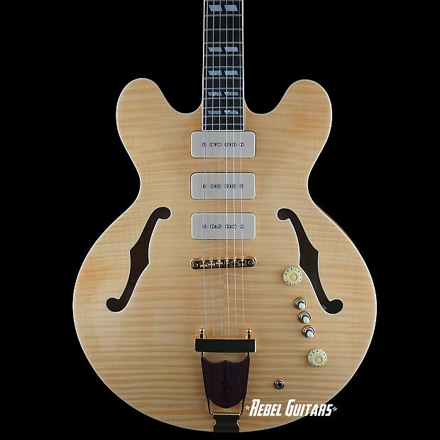 Eastwood Joey Leone Signature Rbc Guitar 3 P90 335 Style Reverb