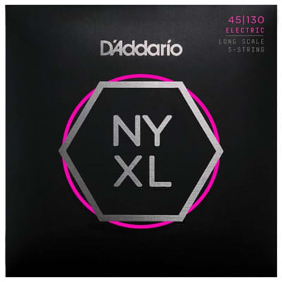 D'Addario NYXL45130 Long Regular Light 5-String Bass