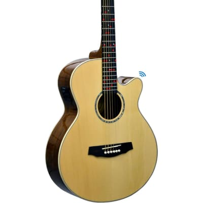 Fretlight FG-629 Wireless Acoustic-Electric Guitar Regular Natural for sale