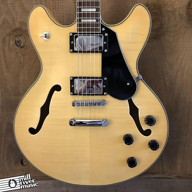 Luna Athena 501 Semi-Hollow Electric Guitar Natural