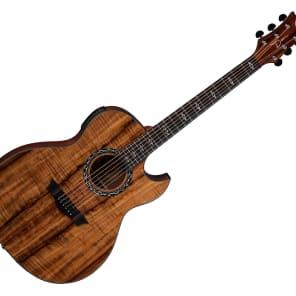 Dean EX-KOA Exhibition Koa Thinline Cutaway Acoustic-Electric Guitar Natural