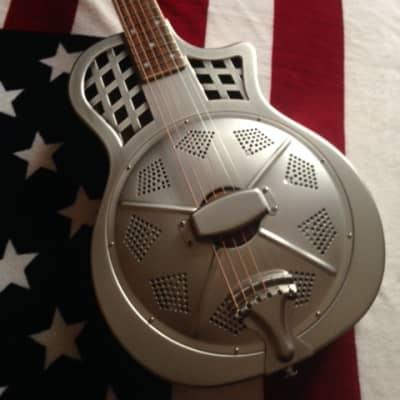 AIERSI Parlor guitare resonateur pan coupé acier brossé 2021 acier brossé for sale