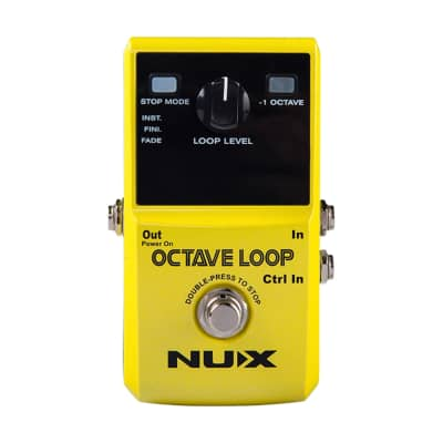 NuX Efx Octave Loop Bass Line Octave Down Looper Guitar Effects Pedal