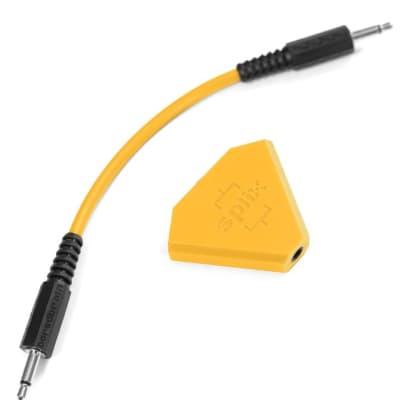 Boredbrain SPLIX Inline Splitter Mixer 3.5mm - Solar Orange