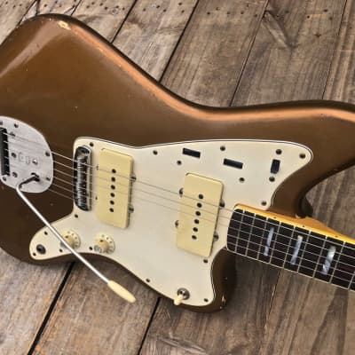 Danocaster Custom Gold/Aged Bronze Offset Electric Guitar for sale