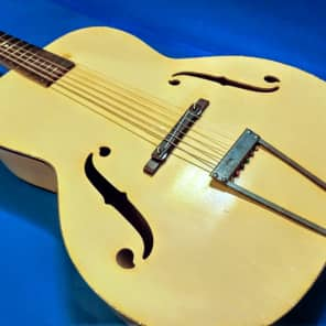 Old Kraftsman Archtop Acoustic Guitar Natural Finish for sale