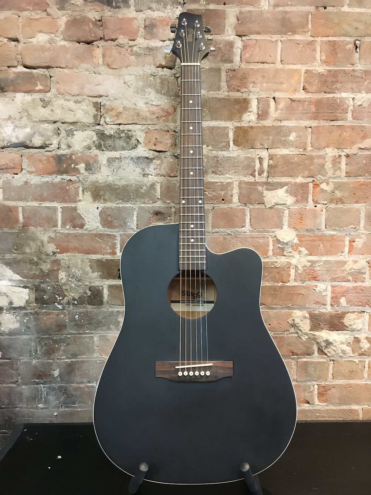 Stagg Acoustic/Electric Guitar Flat Black