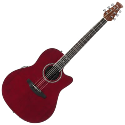 Ovation AB24II-RR Applause Balladeer Acoustic/Electric Guitar (Ruby Red) for sale