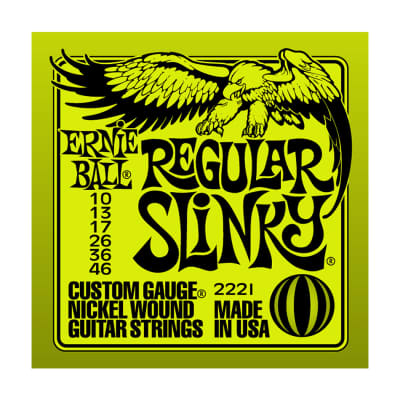 ERNIE BALL Regular Slinky Nickel Wound Electric Guitar Strings (2221) Single Pack