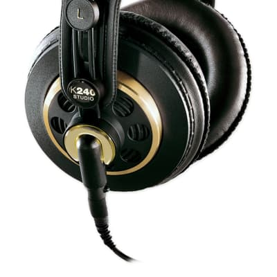 AKG K240 Studio Over-Ear Semi-Open Recording Mixing Monitoring Headphones