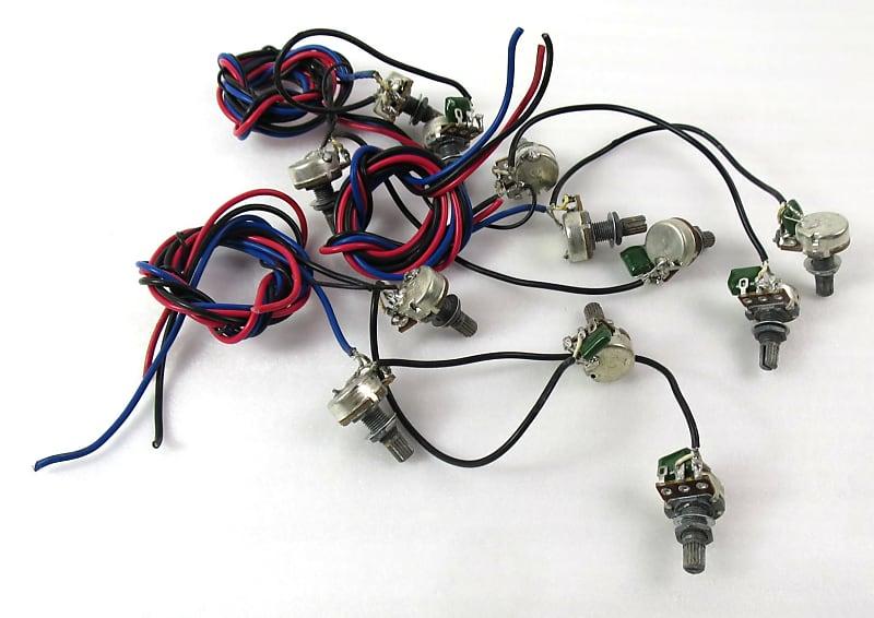 6 Volume + 6 Tone Pots + Wire Coarse Spline 500K Pulls From New Guitars