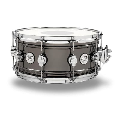 "DW Design Series 6.5x14"" Black Nickel Over Brass Snare Drum"