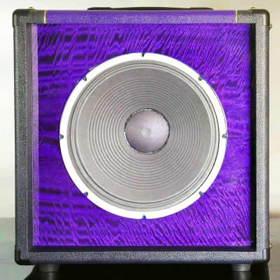 "Tonewood  Purple Figured Mango Graphite-Plum 1x12"" Weber Blue Dog Alnico Driver w/Direct Out"