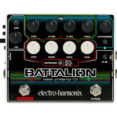 Electro Harmonix Battalion Bass Preamp+DI Bass Effects Pedal for sale